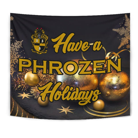 Image of Alpha Phi Alpha Christmas Holidays Tapestry