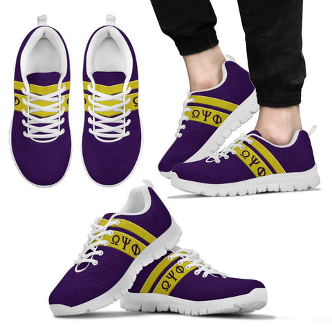 Omega Psi Phi Greek Emblem Sneakers