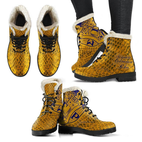 Image of Sigma Gamma Rho Fur Boots