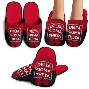 Delta Sigma Theta Bedroom Slippers