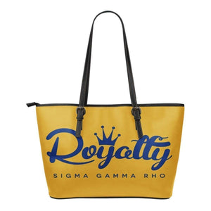 Sigma Gamma Rho Small Leather Tote - Unique Greek Store
