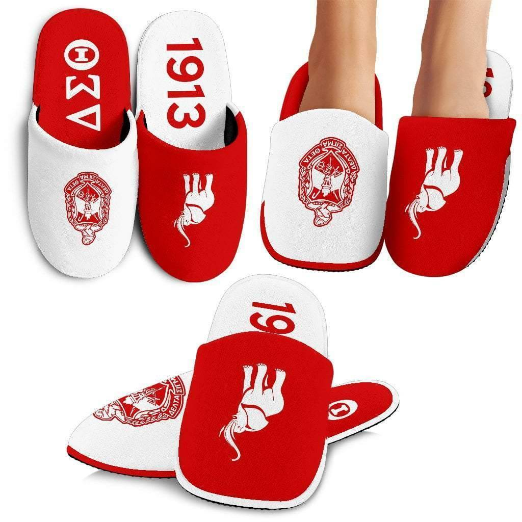 Delta Sigma Theta Indoor Slippers - Unique Greek Store