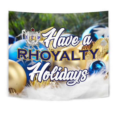 Image of Sigma Gamma Rho Christmas Holidays Tapestry