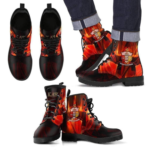 Image of Men's Kappa Alpha Psi Leather Boots - Unique Greek Store