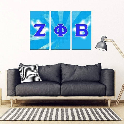 Zeta Phi Beta 3 Piece Wall Art - Unique Greek Store