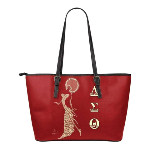 Delta Sigma Theta Small Leather Tote - Unique Greek Store