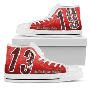 Delta Sigma Theta Founding Year High Top Shoes - Unique Greek Store