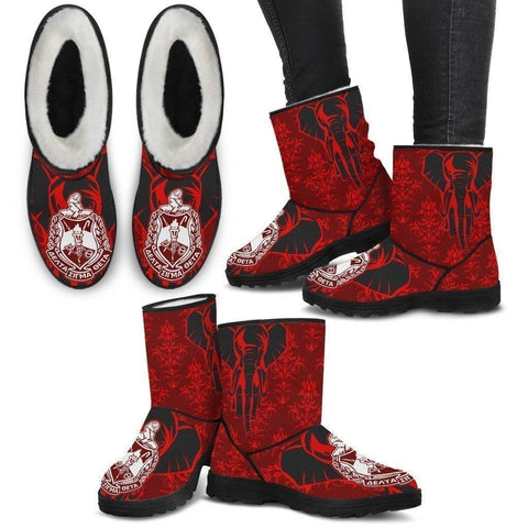 Image of Delta Sigma Theta Faux Fur Boots - Unique Greek Store