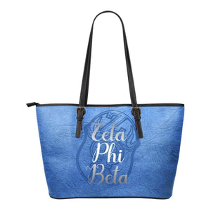 Zeta Phi Beta Emblem Leather Tote