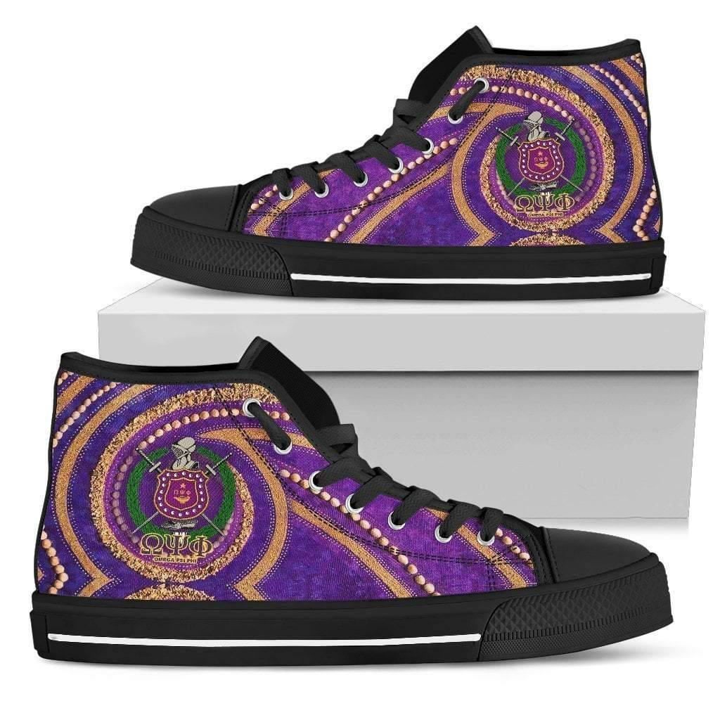 Men's Omega Psi Phi High Top Shoes - Unique Greek Store