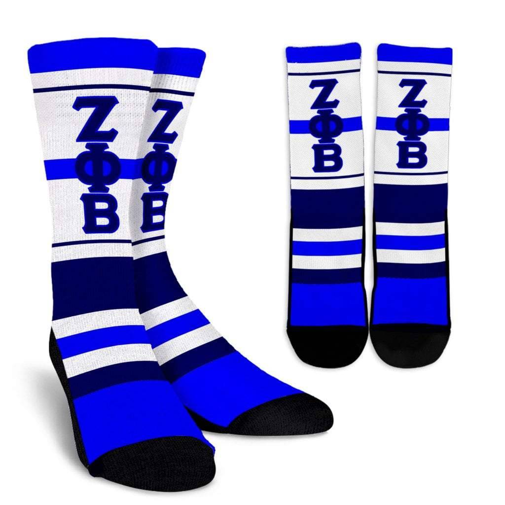 Zeta Phi Beta Sorority Crew Socks