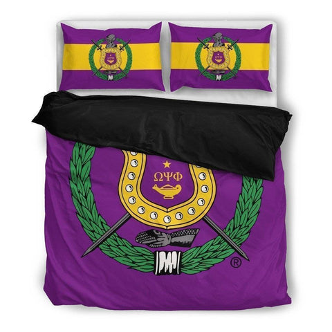 Image of Omega Psi Phi Bedding Set - Unique Greek Store