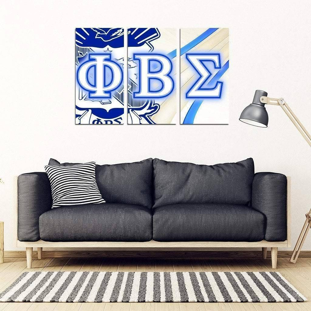 Phi Beta Sigma 3 Piece Wall Art - Unique Greek Store
