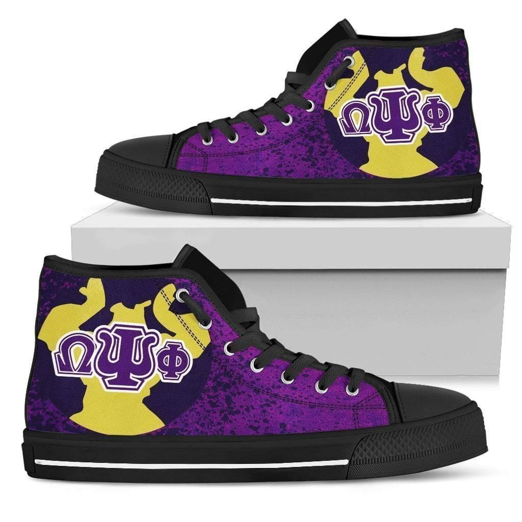 Omega Psi Phi Men's High-top Sneakers - Unique Greek Store