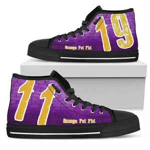 Omega Psi Phi Founding Year High Top Shoes - Unique Greek Store