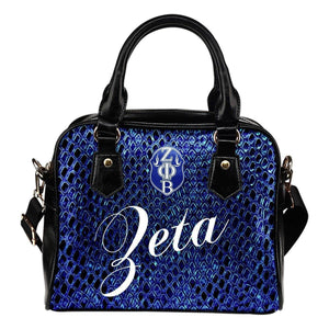 Zeta Phi Beta Snake Bag