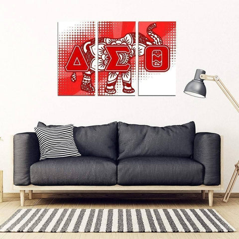 Delta Sigma Theta 3 Piece Wall Art - Unique Greek Store