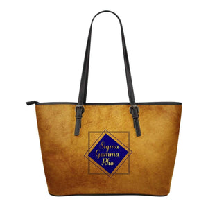 Sigma Gamma Rho Emblem Leather Tote