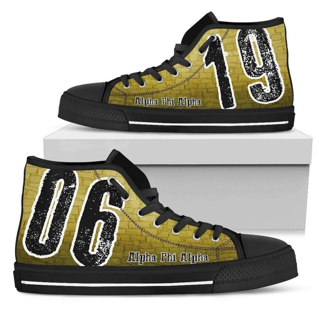Alpha Phi Alpha Founding Year High Top Shoes - Unique Greek Store