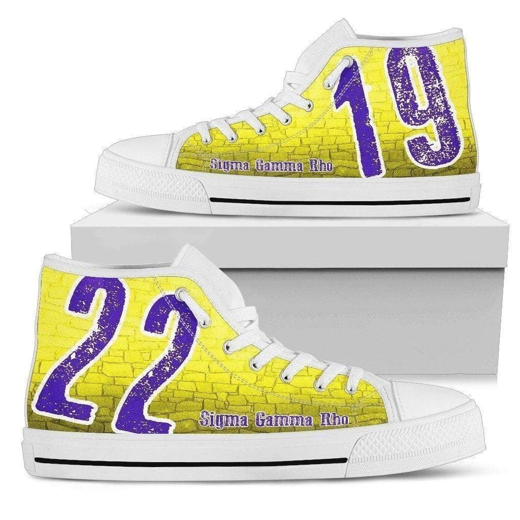 Sigma Gamma Rho Founding Year High Top Shoes - Unique Greek Store
