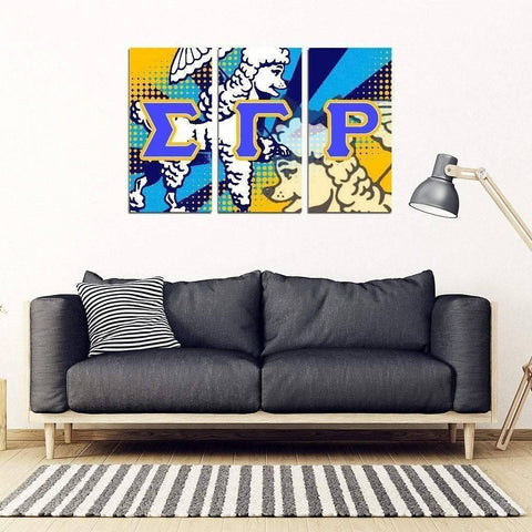 Sigma Gamma Rho 3 Piece Wall Art - Unique Greek Store