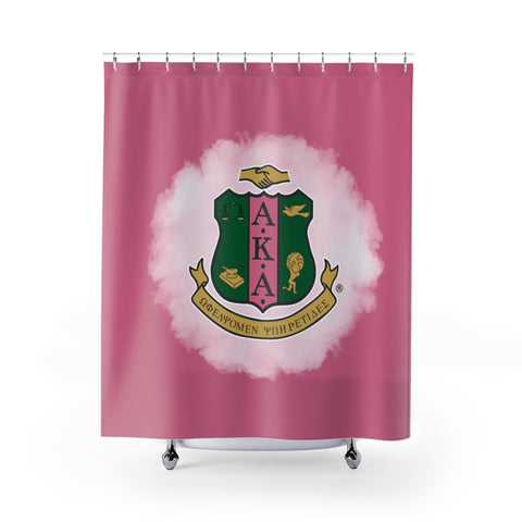 Alpha Kappa Alpha Emblem Shower Curtains