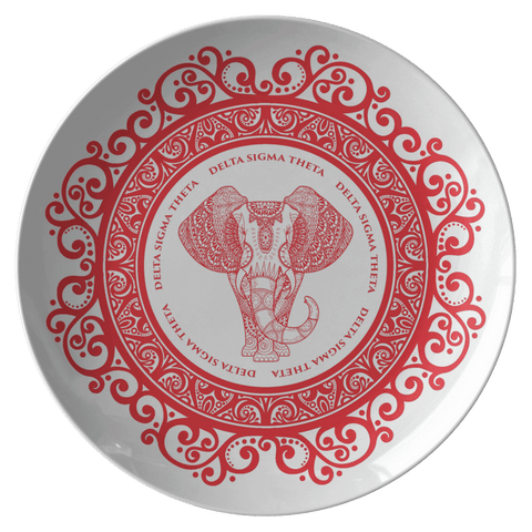 Image of Delta Sigma Theta Plate - Unique Greek Store