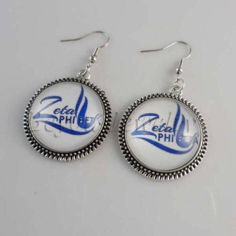 Image of Zeta Phi Beta Bubble Earrings - Unique Greek Store