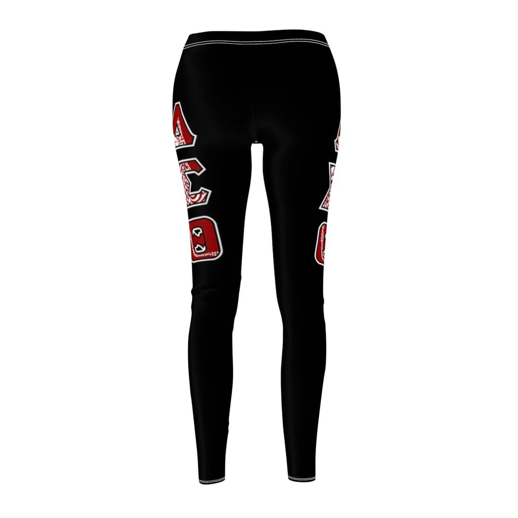 Delta Sigma Theta  GREEK INITIALS Women's Cut & Sew Casual Leggings