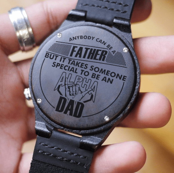 Alpha Phi Alpha Proud Dad Engraved Watch