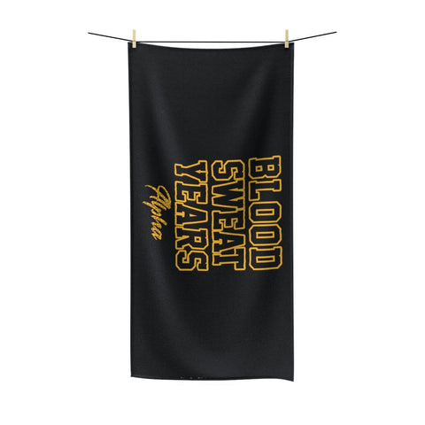 Image of Alpha Phi Alpha Blood Sweat Years Towel