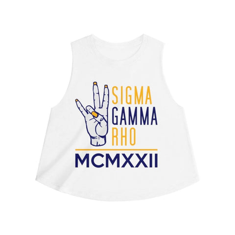 Sigma Gamma Rho MCMXXII Crop Top