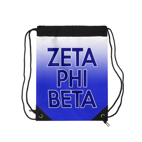 Zeta Phi Beta Drawstring Bag