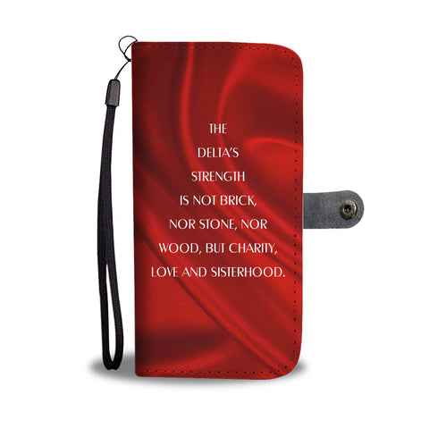 Image of Delta Sigma Theta Emblem Wallet Case - Unique Greek Store