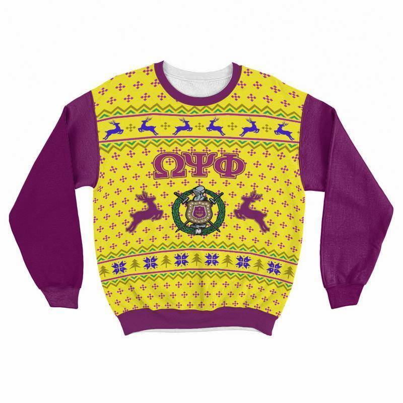 Omega Psi Phi Ugly Christmas Sweater - Unique Greek Store