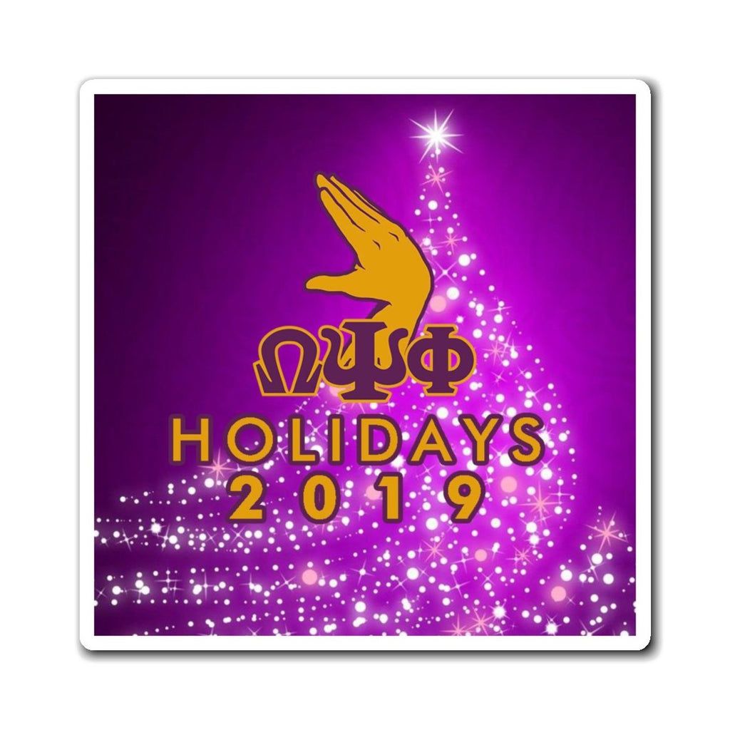 Omega Psi Phi 2019 Holiday Magnets