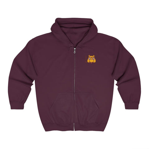 Image of Omega Psi Phi Embroidery Zip Up Hoodie