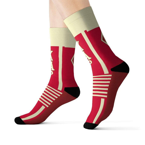 Kappa Alpha Psi Greek Letter Socks