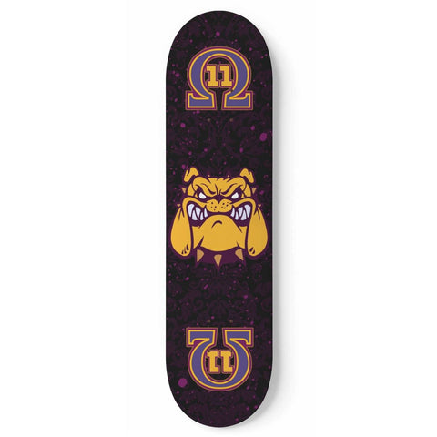 Omega Psi Phi Skateboard Wall Art