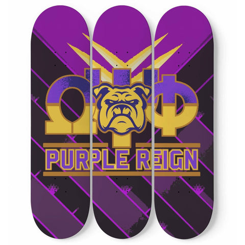 Omega Psi Phi 3 Skateboard Wall Art