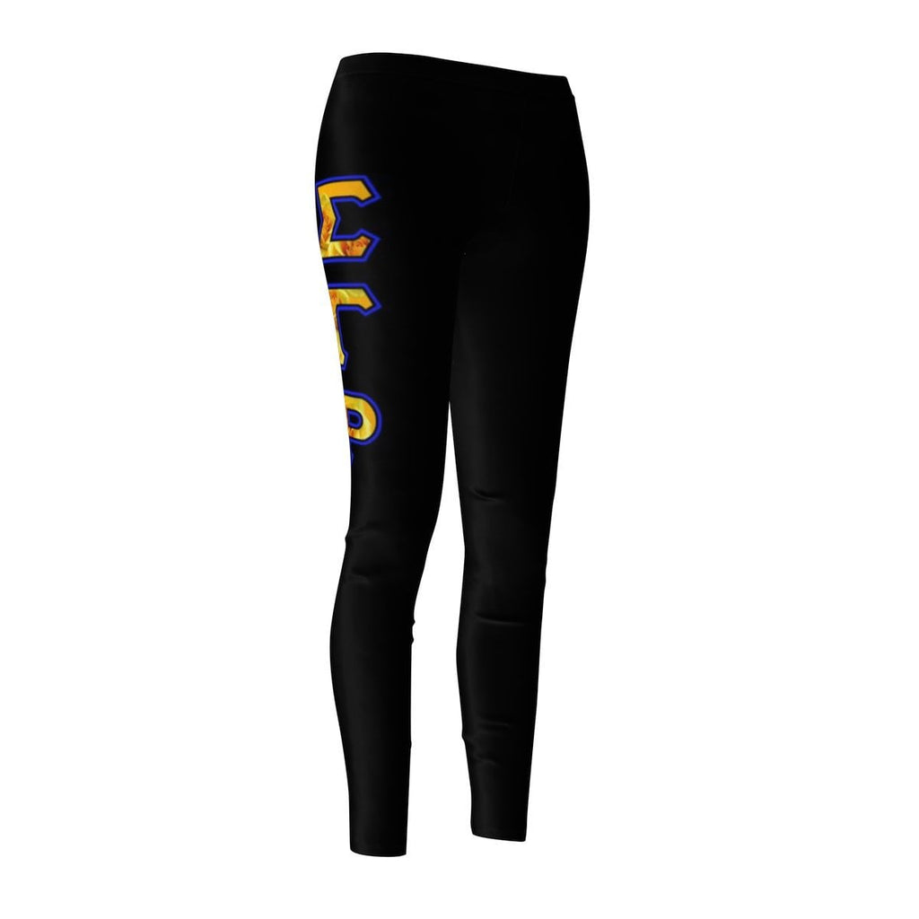 Sigma Gamma Rho GREEK INITIALS Women's Cut & Sew Casual Leggings - Unique Greek Store