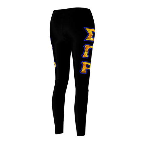 Image of Sigma Gamma Rho GREEK INITIALS Women's Cut & Sew Casual Leggings - Unique Greek Store