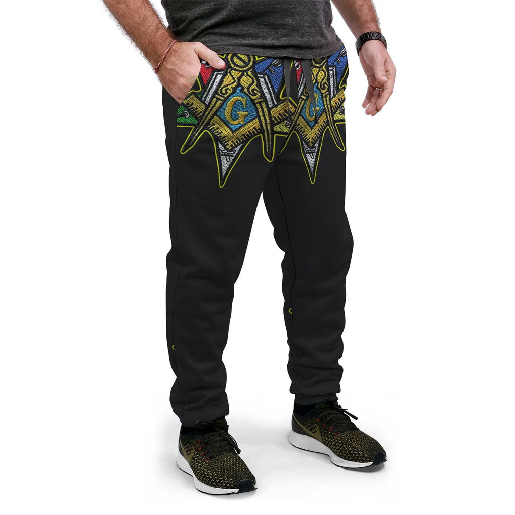Order of the Eastern Star Emblem Design Joggers
