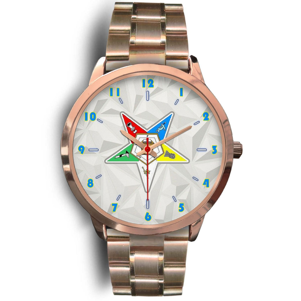 Order of the Eastern Star Rose Gold Watch