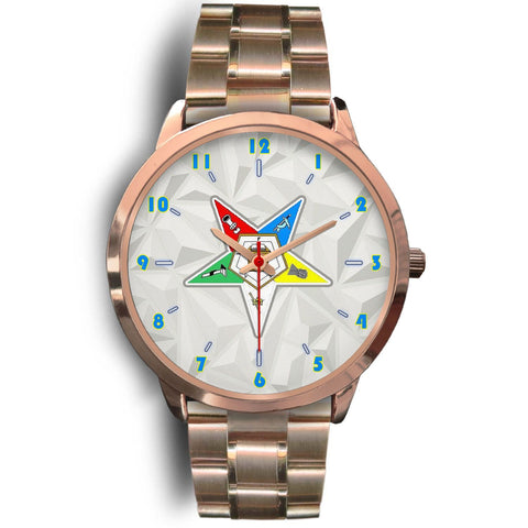 Image of Order of the Eastern Star Rose Gold Watch