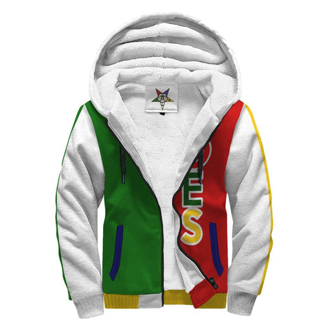 Image of Order of the Eastern Star Emblem Sherpa Hoodie