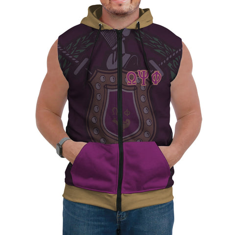 Image of Omega Psi Phi Sleeveless Hoodie
