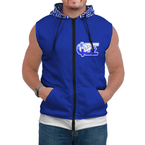 Image of Phi Beta Sigma Sleeveless Hoodie