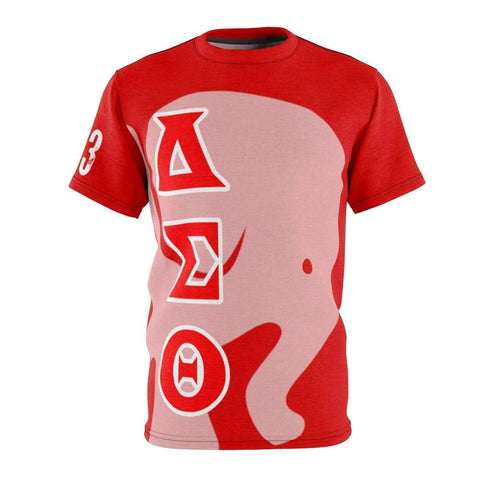 Delta Sigma Theta AOP Cut & Sew Tee - Unique Greek Store