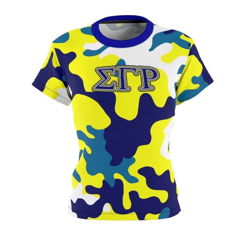 Sigma Gamma Rho Camouflage Tee - Unique Greek Store